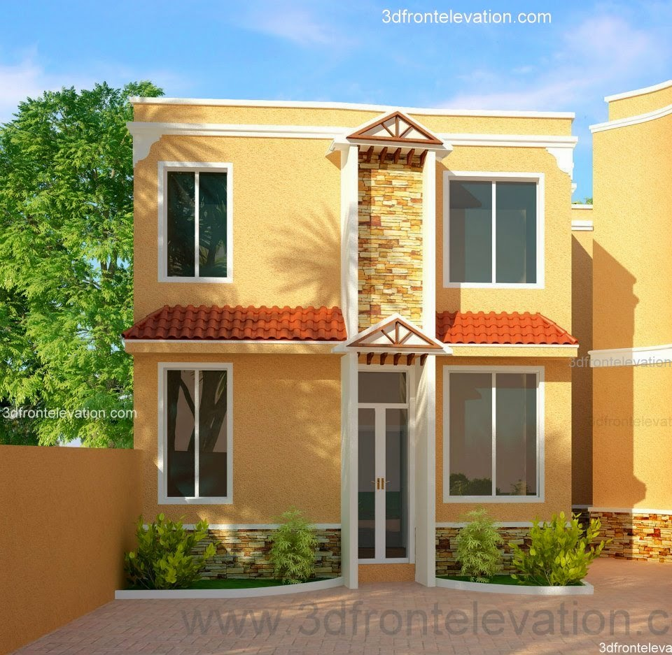 Front Elevation Of Residential Houses : Front elevation of residential house joy studio design