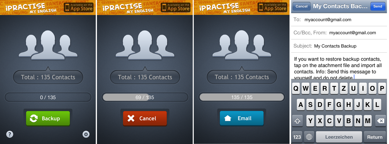 iPhone contacts backup with free app | iPhone contacts