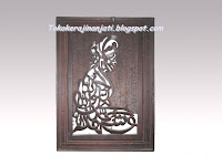 Kaligrafi Syahadat Kayu Jati