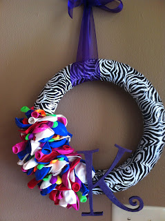 Duct Tape Balloon Wreath