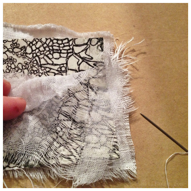 Meandering Stitches - UnRuly Cloth & Canvas @ milliande.com CAPI Art Portfolio Experimentations
