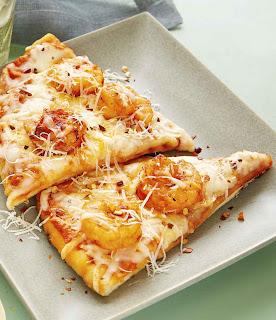 Romesco Shrimp Pizza