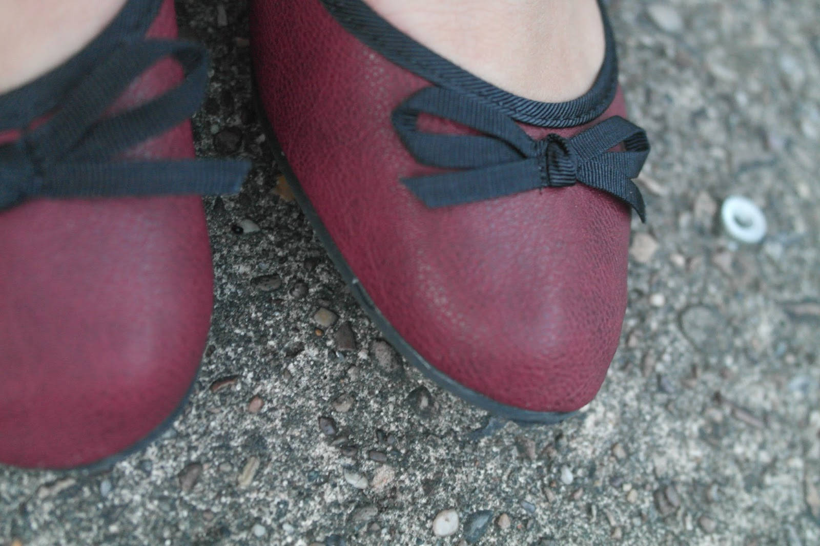 New Look burgundy flats