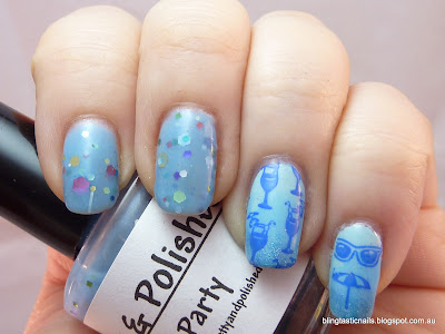 Pretty & Polished Pool Party with stamping