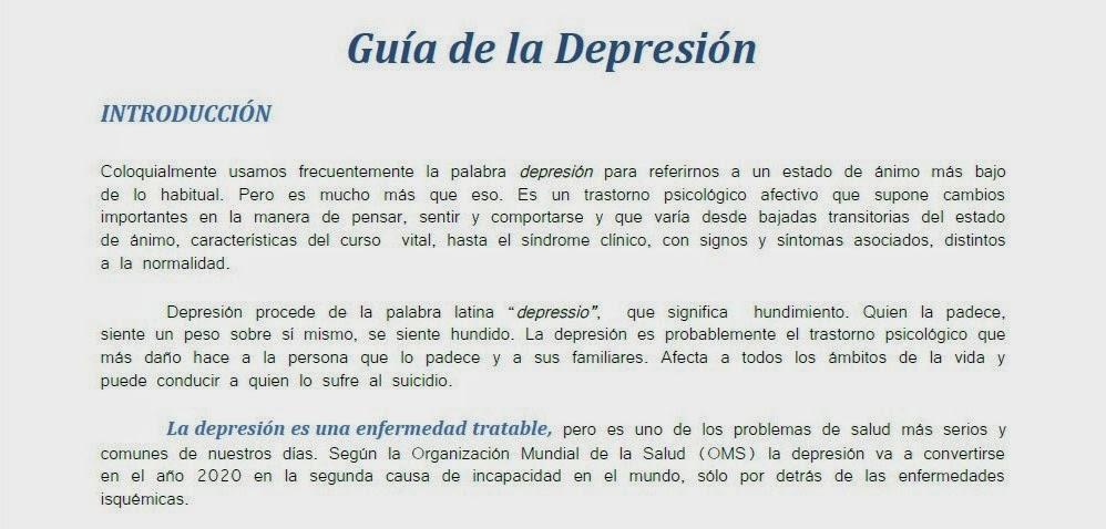 Gu a de la depresi n realizada por la fundaci n anaed - Consejos para superar la depresion ...