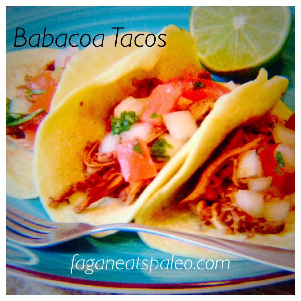 Paleo pork barbacoa tacos