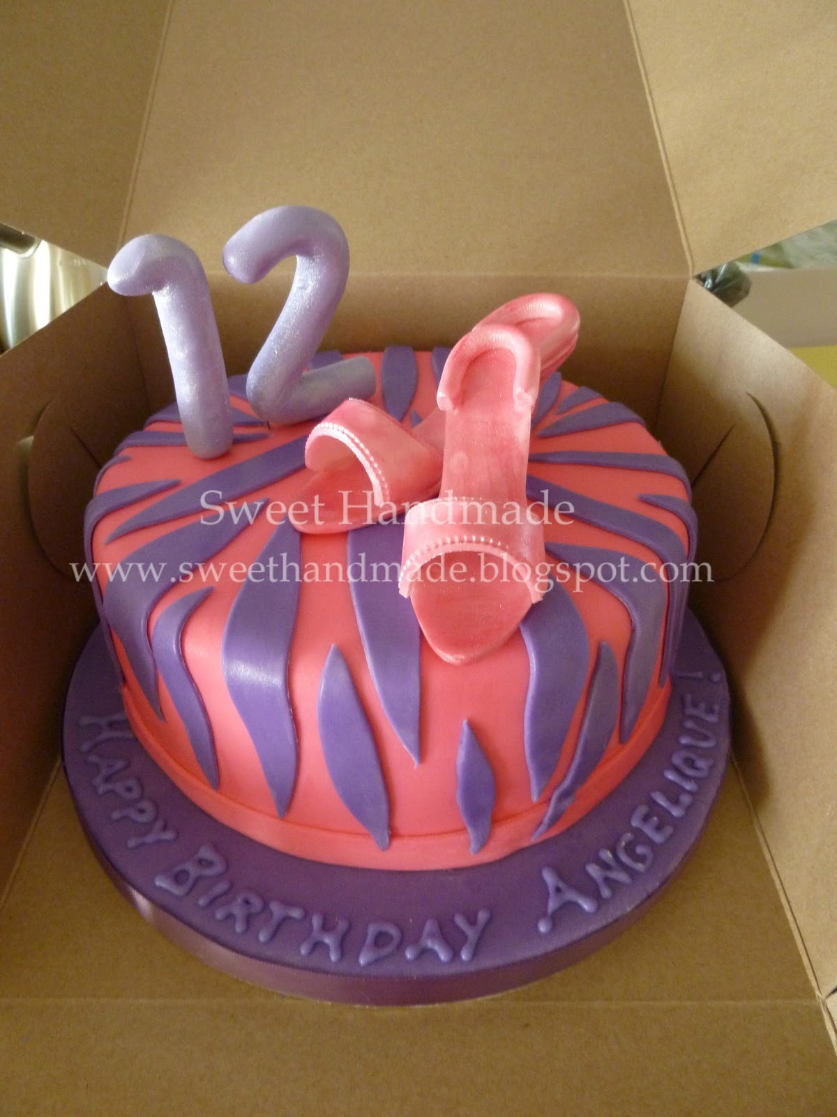 Sweet Handmade Cookies 12th Birthday Cake With High Heals And