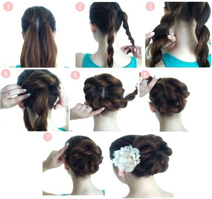 Peinados con trenzas faciles de hacer en casa paso a paso imagui - Peinados para bodas faciles de hacer en casa ...