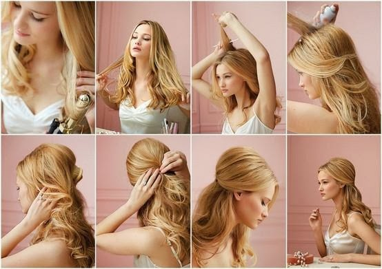 Makeup Steps Party Hairstyle