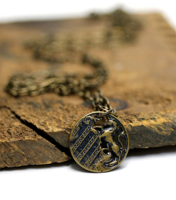 Vintage Unicorn Necklace #1800s #unicorn #antique #jewelry