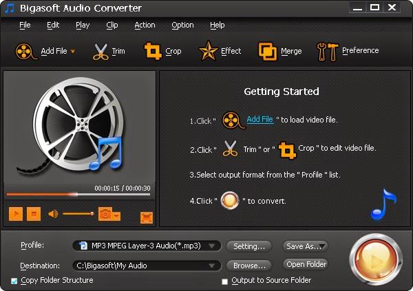 Bigasoft Audio Converter Portable | 音樂轉換工具