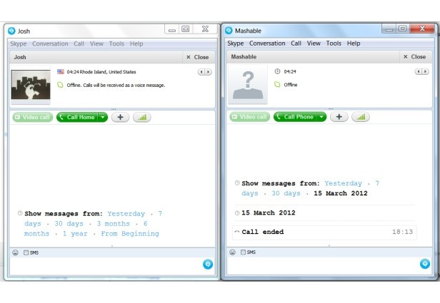 how to change sms to regular message skype