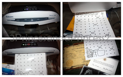 Fellowes Laminator in use