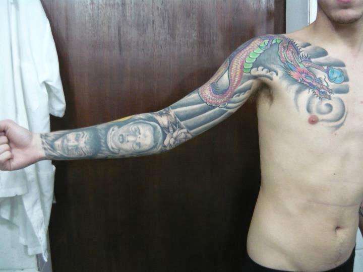 fechou o braço de tattoo