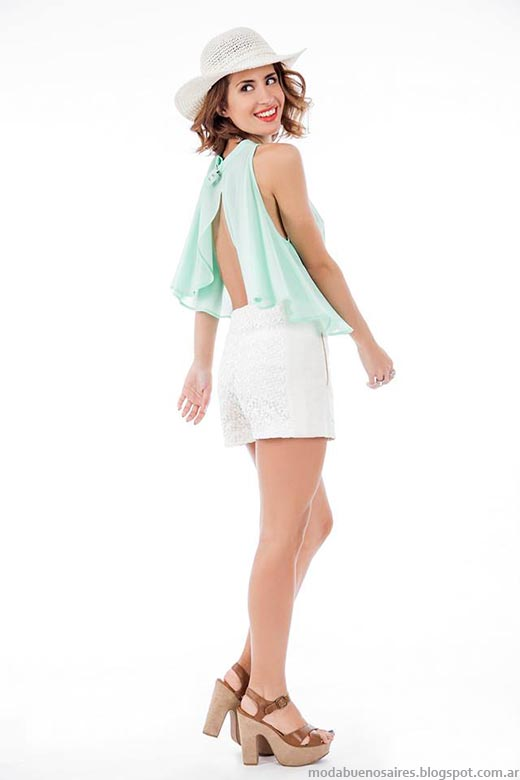 Moda primavera verano 2015 tops y shorts Activity.