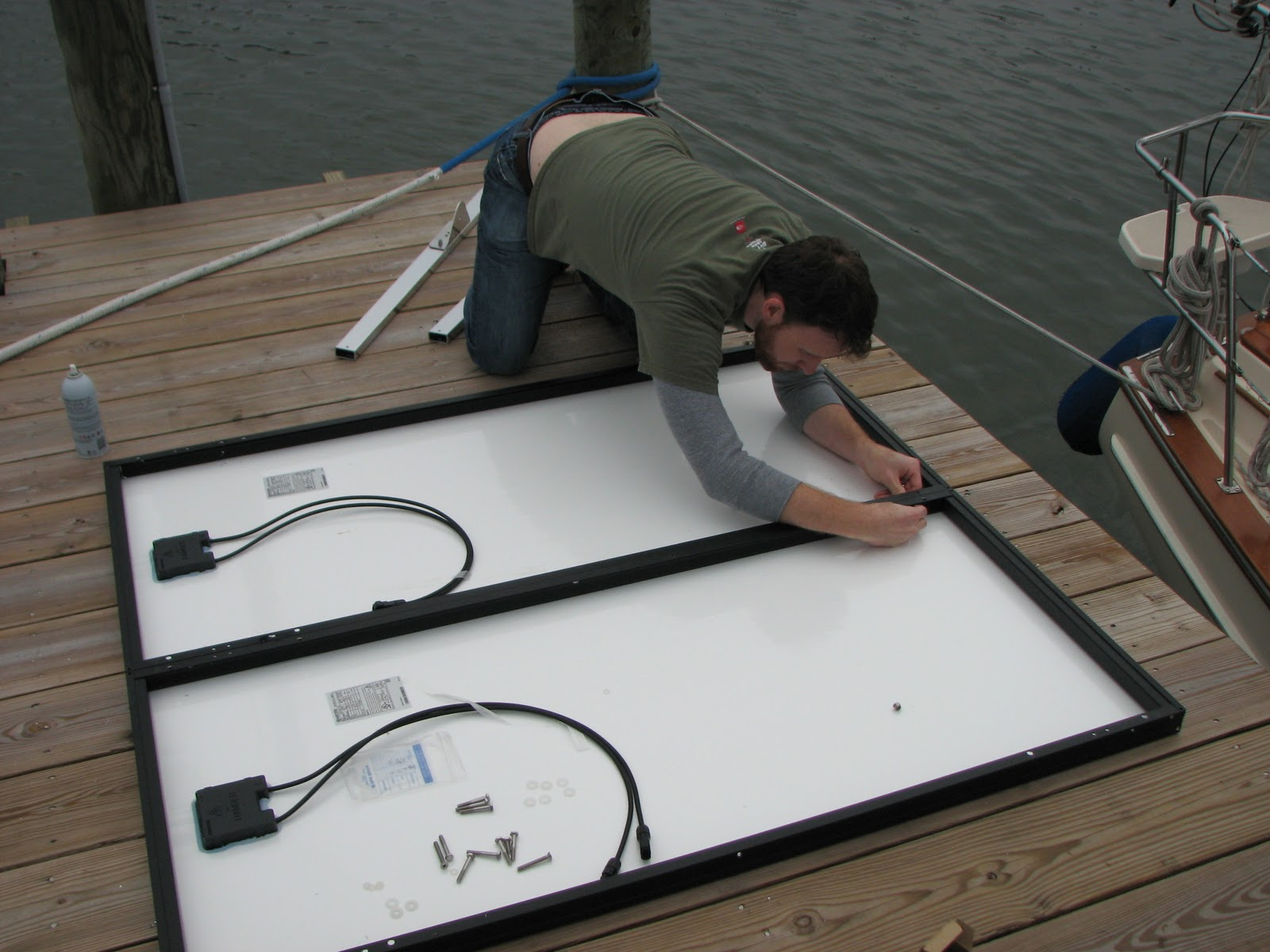 Marine solar panel installations first mate marine inc - Solar Panel Installation