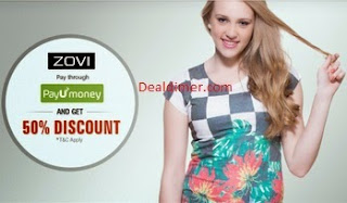 50% Off upto Rs. 100 via PayUmoney – Zovi