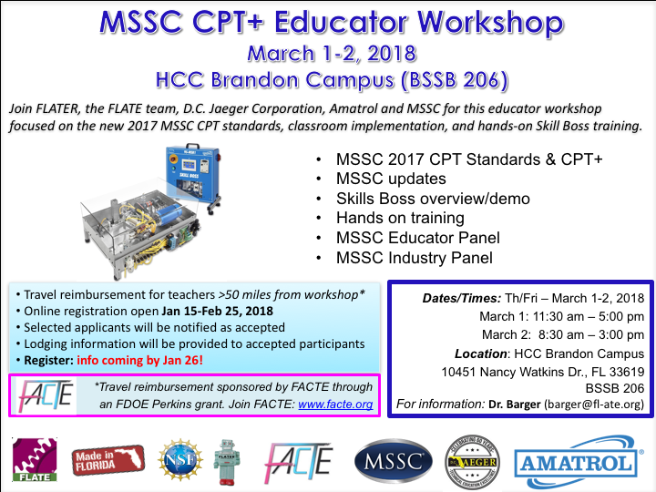 MSSC CPT and CP+ Workshop
