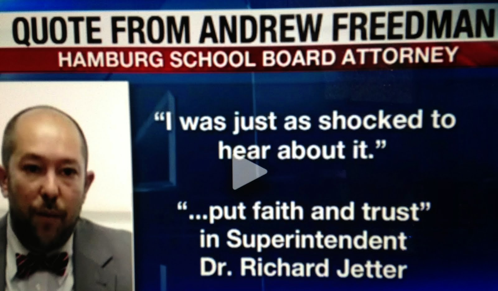 Hamburg School Attorney Andrew Freedman