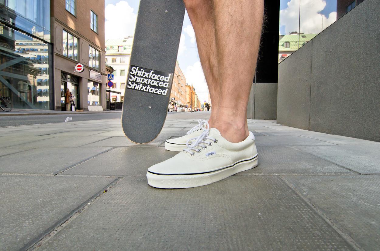 vans era with shorts