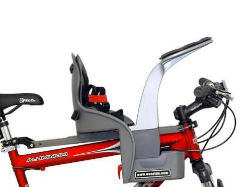 silla delantera portabebé bicicleta