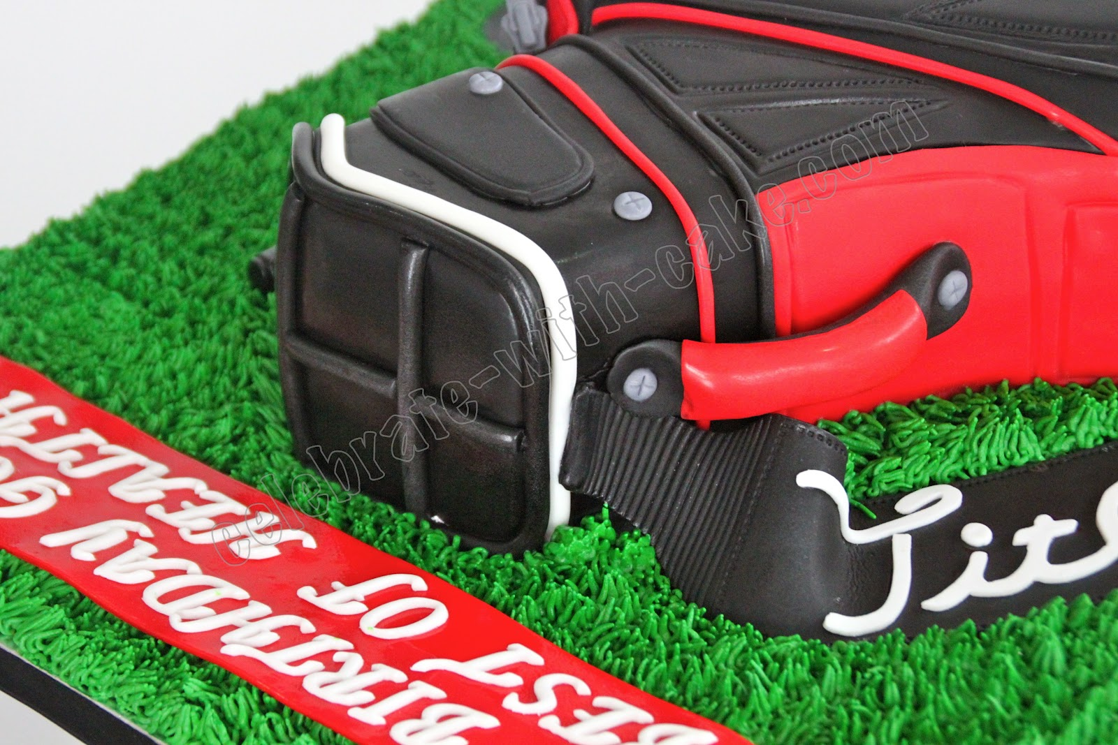 how to make a golf bag cake topper