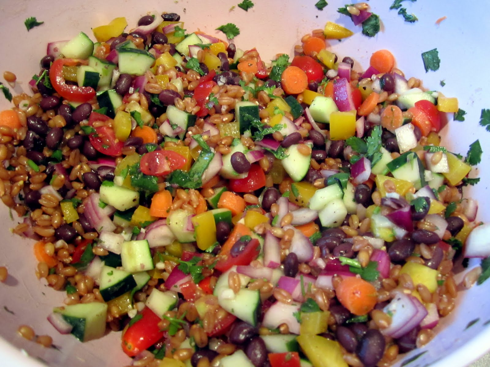 Cilantro Lime Spelt Berry Salad Recipe — Dishmaps