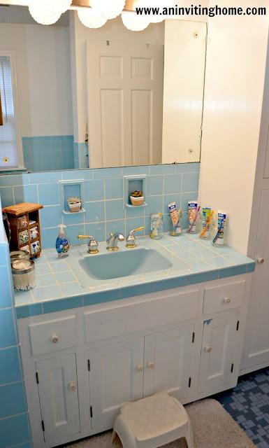 mason jar holders in bathroom