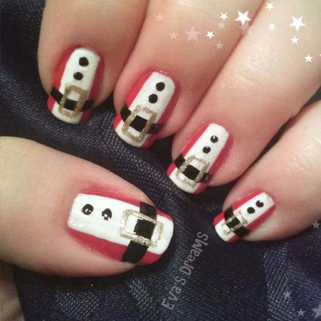 Nails of the week: Weihnachtsmann Nägel für Weihnachten