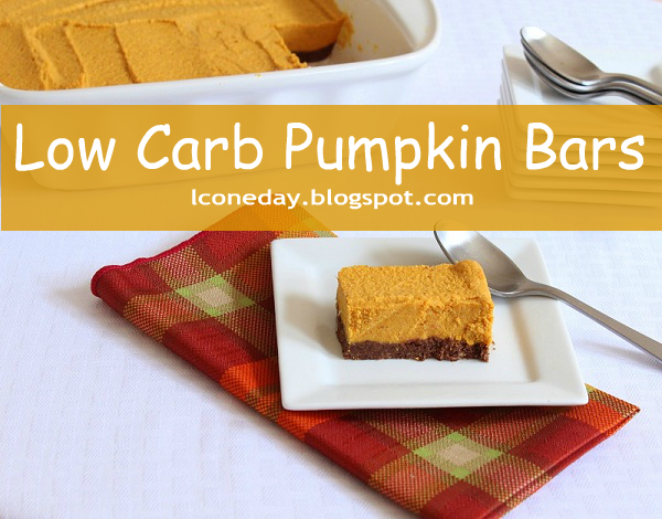 SPLENDID LOW-CARBING BY JENNIFER ELOFF: Low-Carb Pumpkin Bars