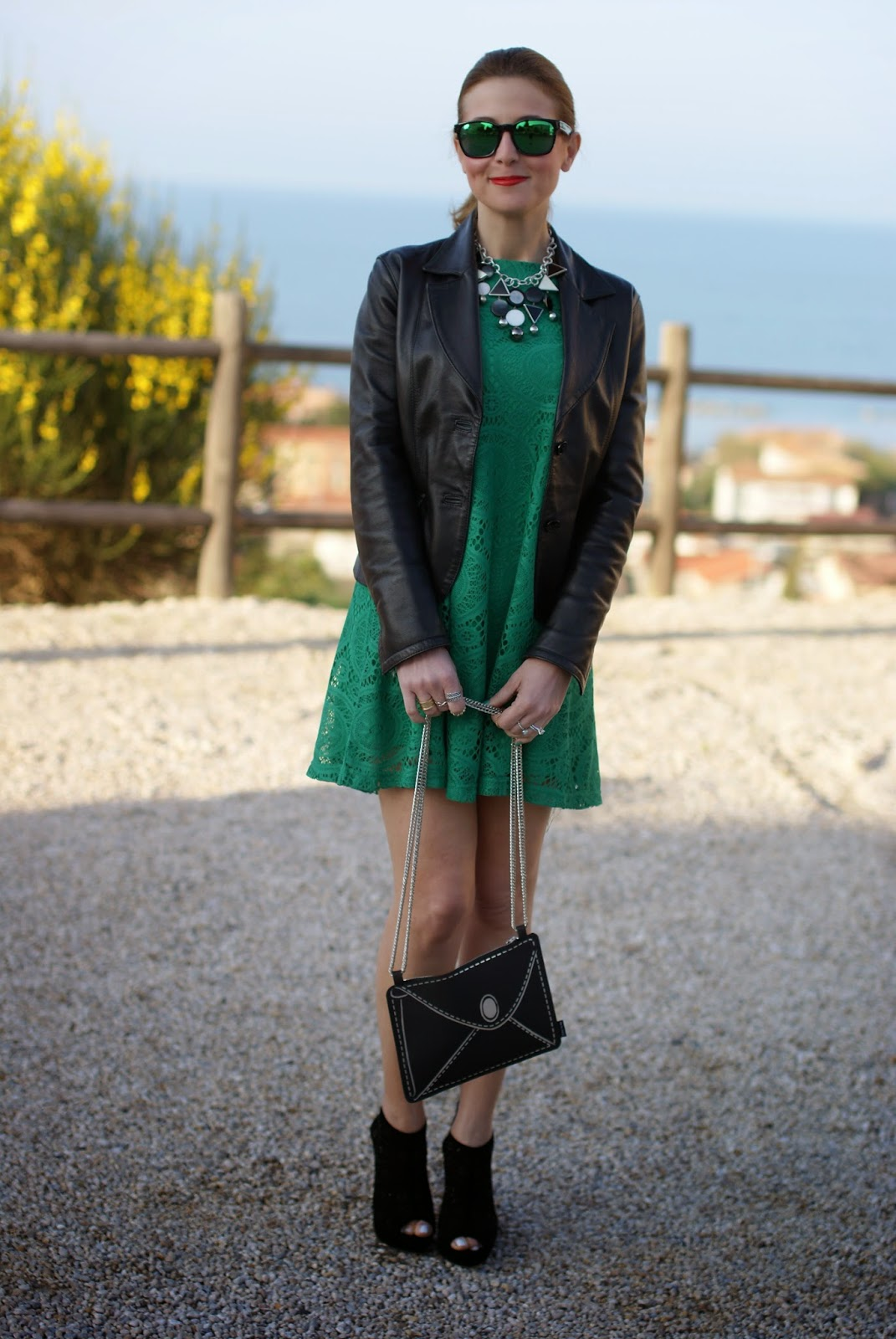 Vitti Ferria Contin jewelry, Today I'm me evening bag, millelire watch, Sheinside green lace dress, Fashion and Cookies, fashion blogger