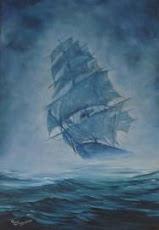 O Navio Fantasma: A lenda do Holandês Voador.