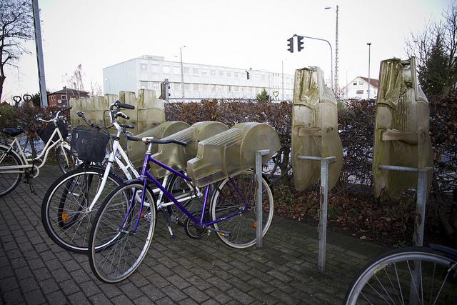 Paraciclo com proteção contra chuva