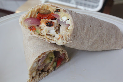 Grilled chicken and vegetable wrap