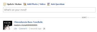 Cara Membuat Tulisan Status Facebook Tercoret
