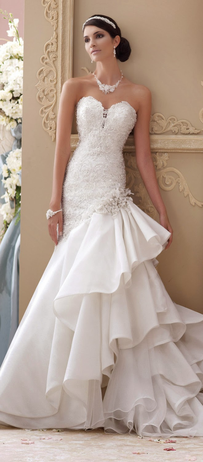 David tutera for mon cheri spring 2015 bridal collection for Dresses for spring wedding