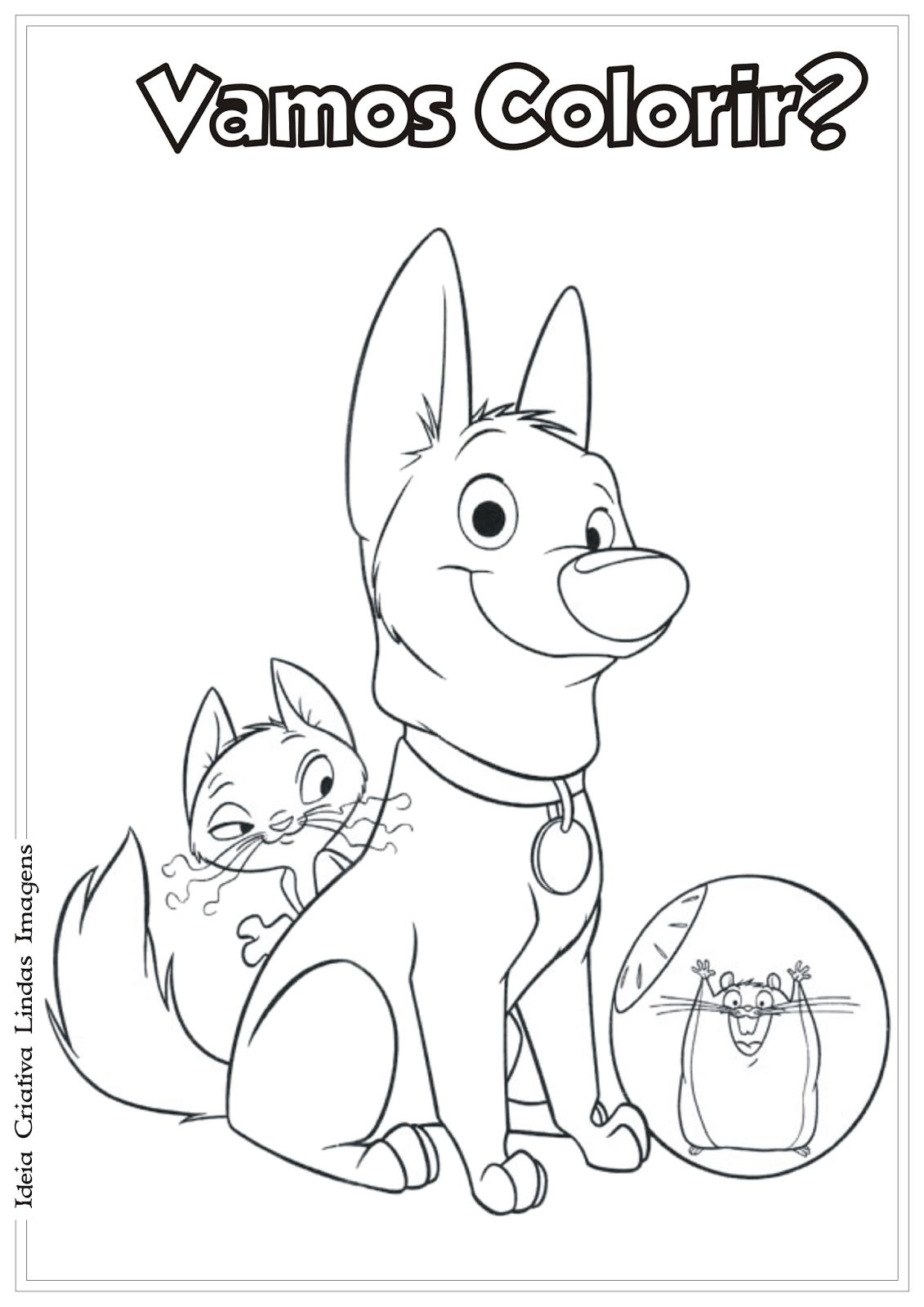 Bolt desenho para colorir