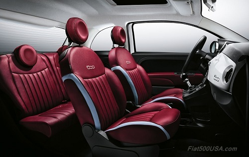 New Fiat 500 Leather Interior