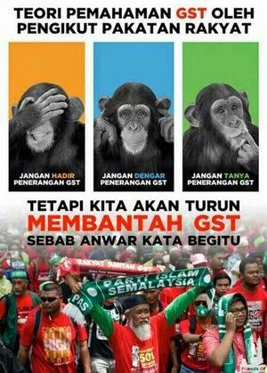 Bantah tapi tak faham GST