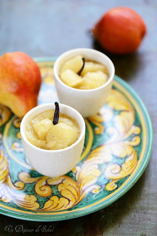 Compote de poires à la vanille