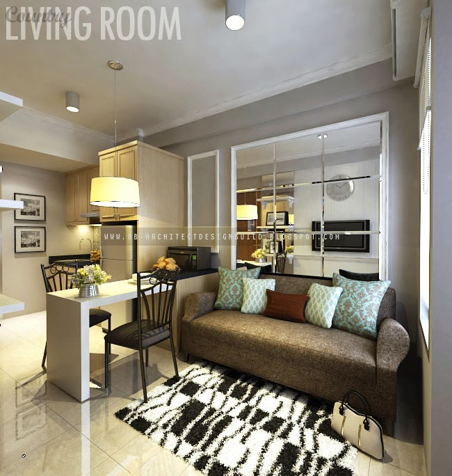 Ab architect puncak kertajaya apartment show unit b for B q living room units