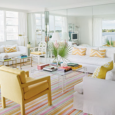 tapetes de listras coloridas