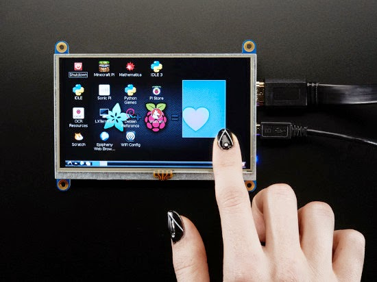 Display touch de 5""