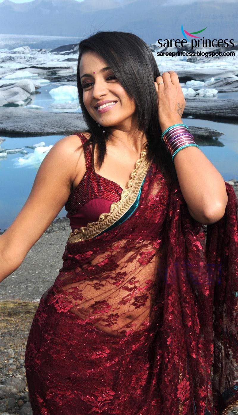 Trisha in Transparent Saree Hot
