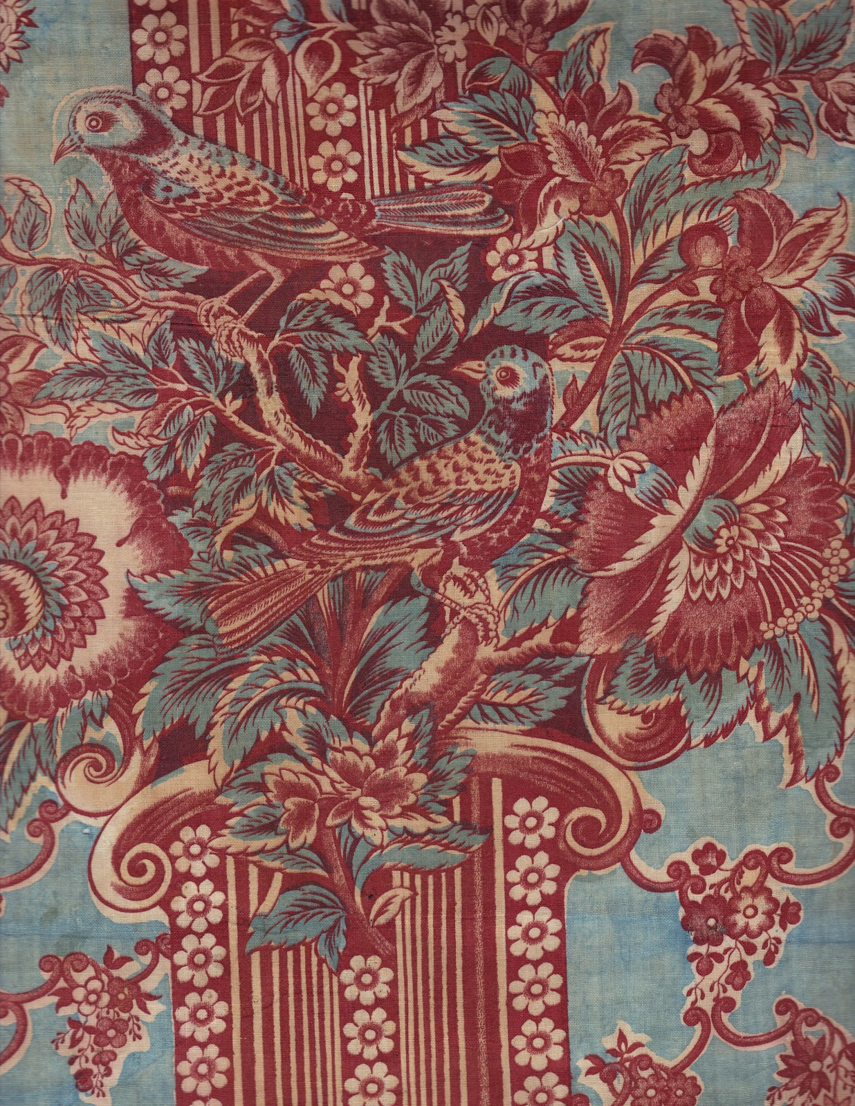 Textile time travels pining for pillars crazy for chintz for Chintz fabric