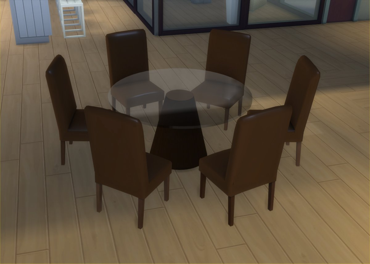 My Sims 4 Blog Modern 6 Seater Dining Table And Chair Set