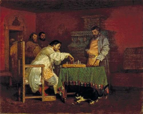 Шварц Вячеслав Григорьевич. Царь Алексей Михайлович, играющий в шахматы