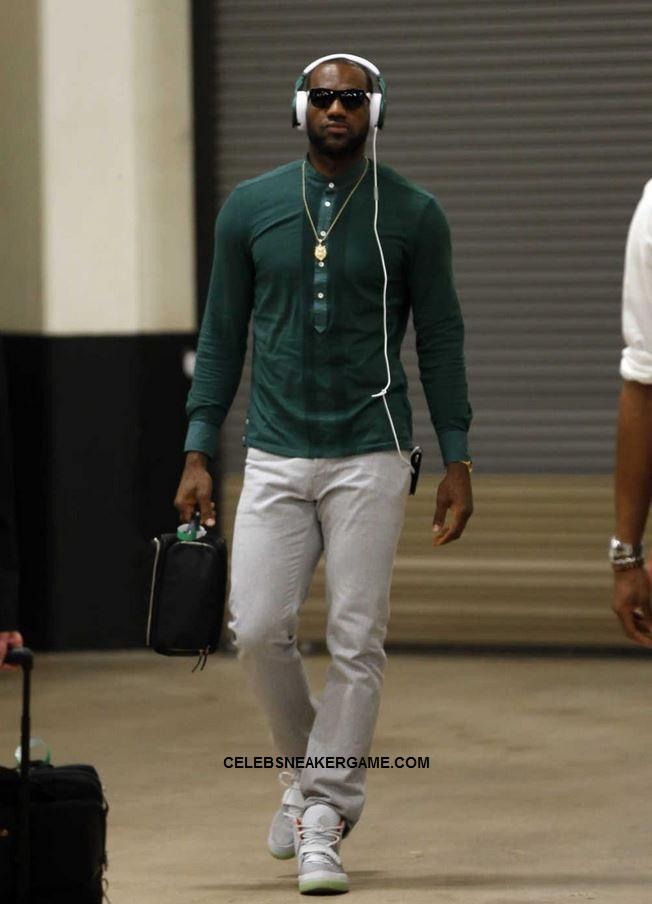 Celeb Sneaker Game  Lebron james Wearing Nike Air Yeezy 2 Pure ... b065c1f270