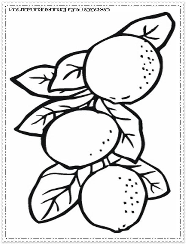 Orange Tree Coloring Page Printable