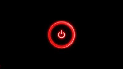 Red Leon Light Power Button Logo HD Wallpaper